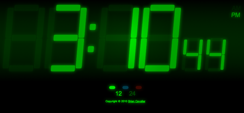 The CSS3 Digital Clock makes heavy use of OOCSS, transforms, transitions, opacity, and rgba