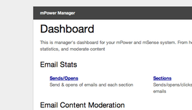 The mPower dashboard gives customers easy access to tracking and reporting, and content moderation